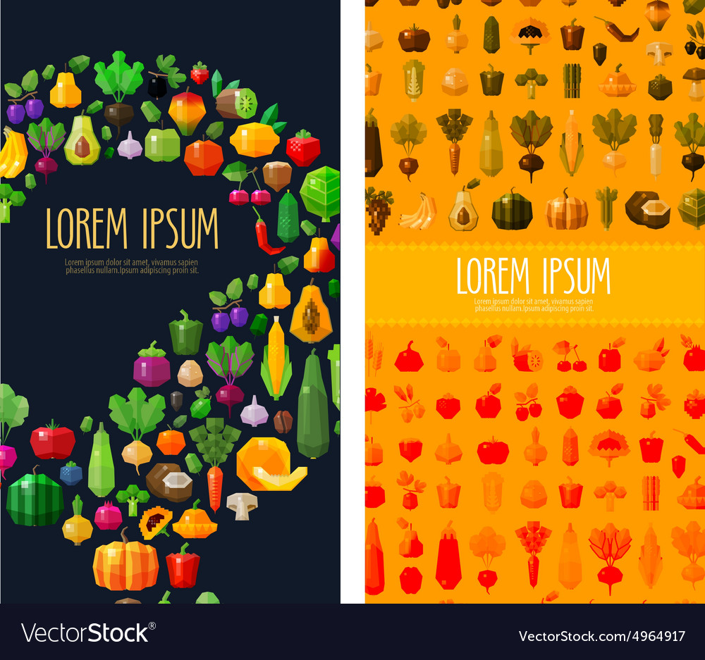 Fruits and vegetables logo design template vector
