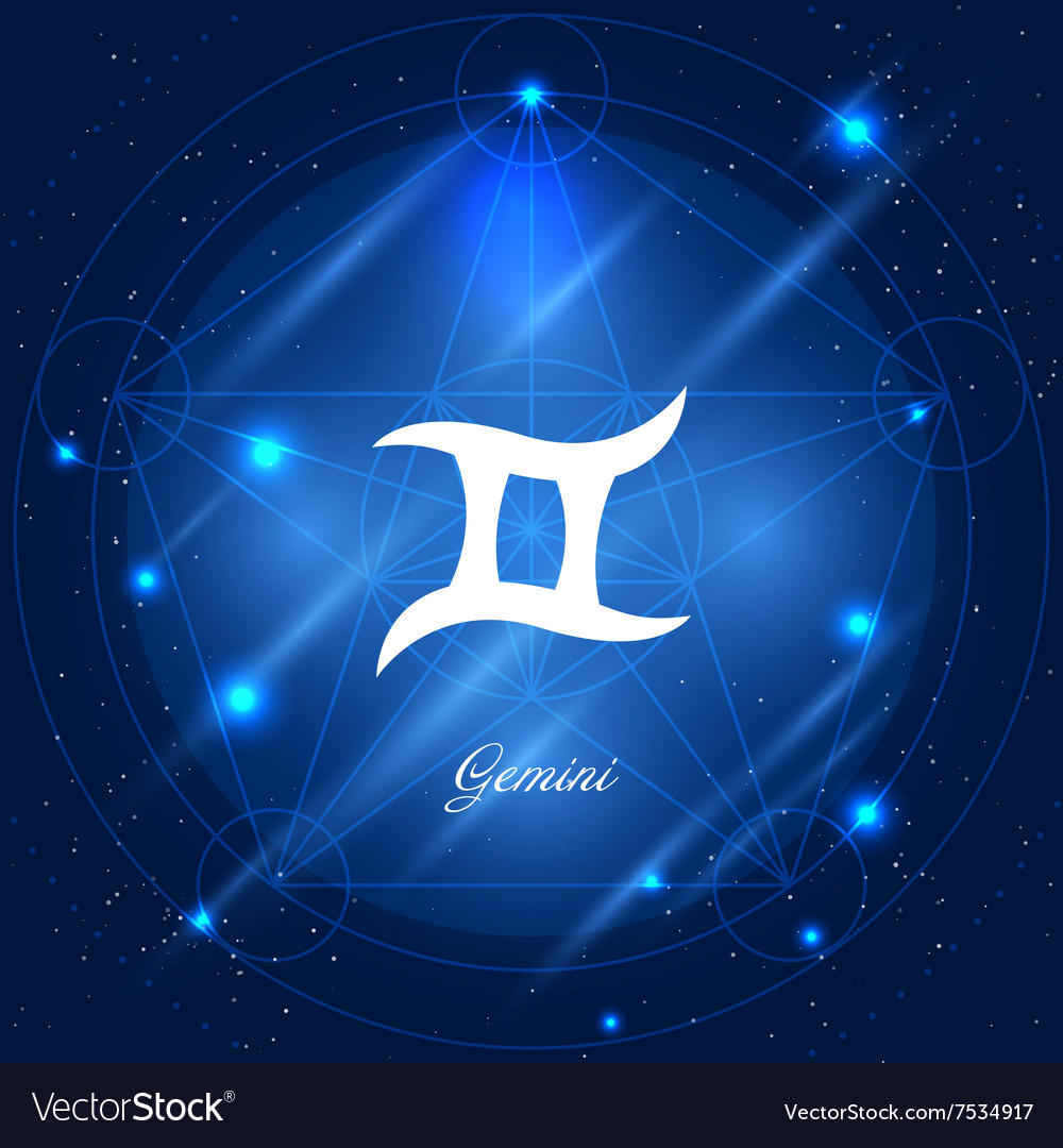 Gemini sign of the zodiac vector