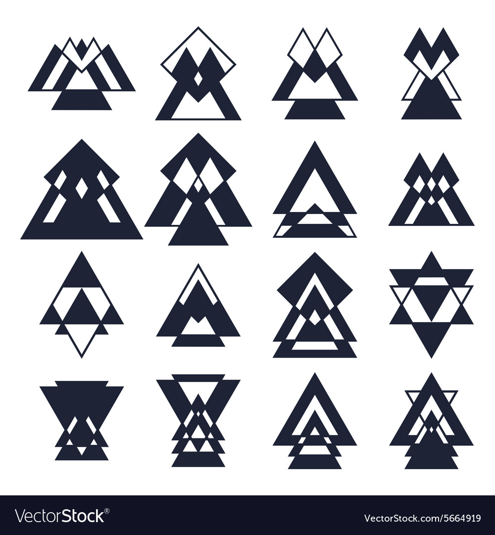 Trendy design elements collection of geometric vector