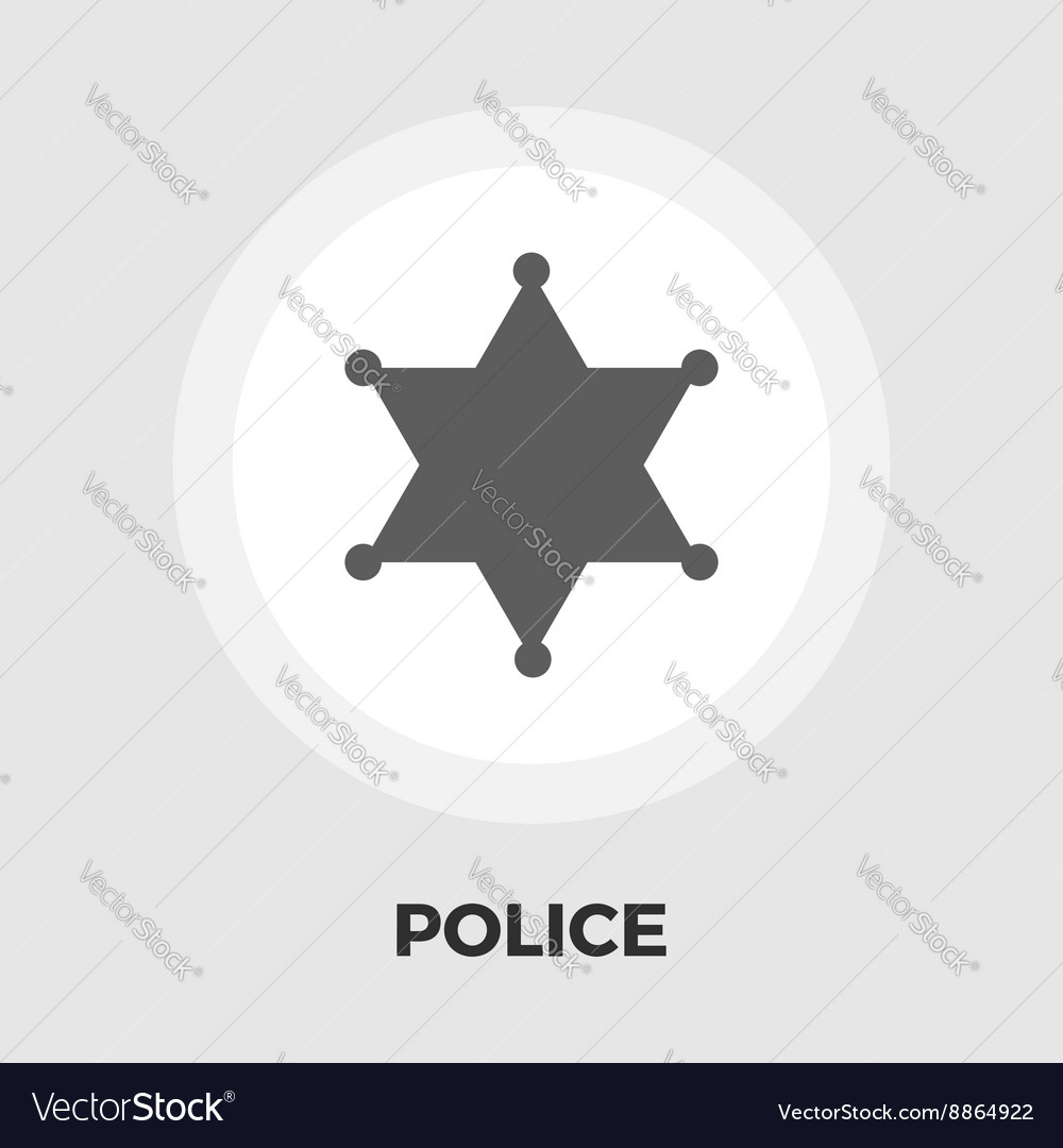 Police icon flat vector