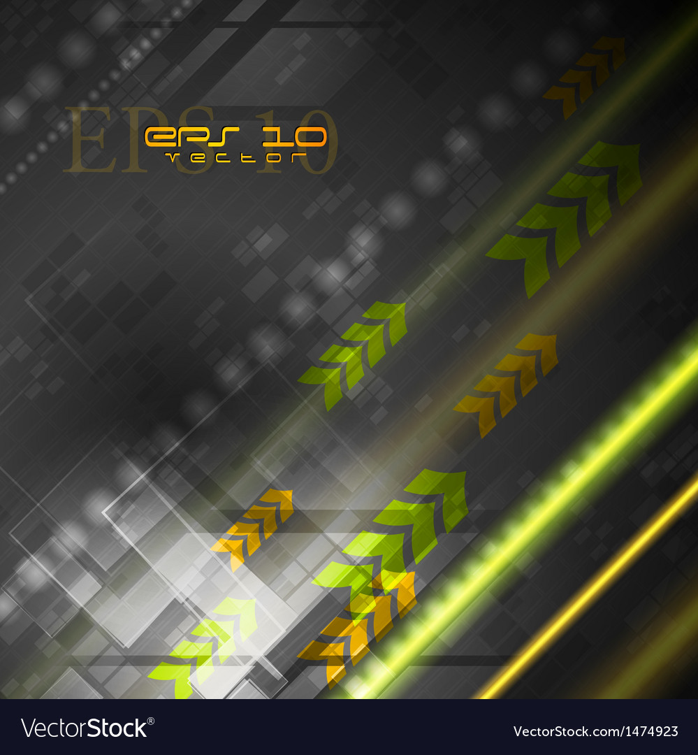 Bright hitech background vector