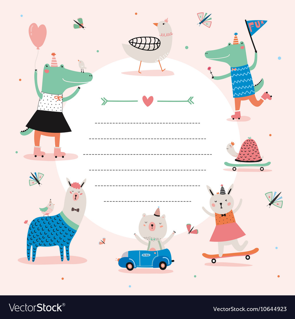 Cute calendar daily planner template vector