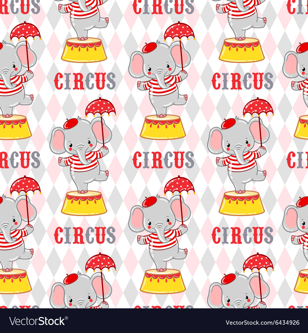Circus elephant on a pedestal vector