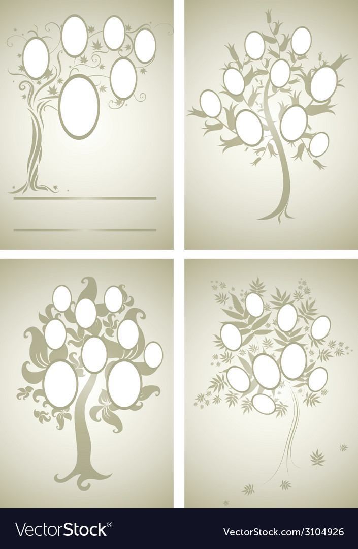 Set of family tree 2 vector