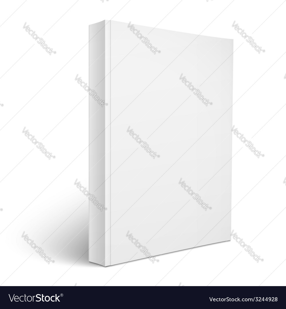 Blank vertical softcover book template vector