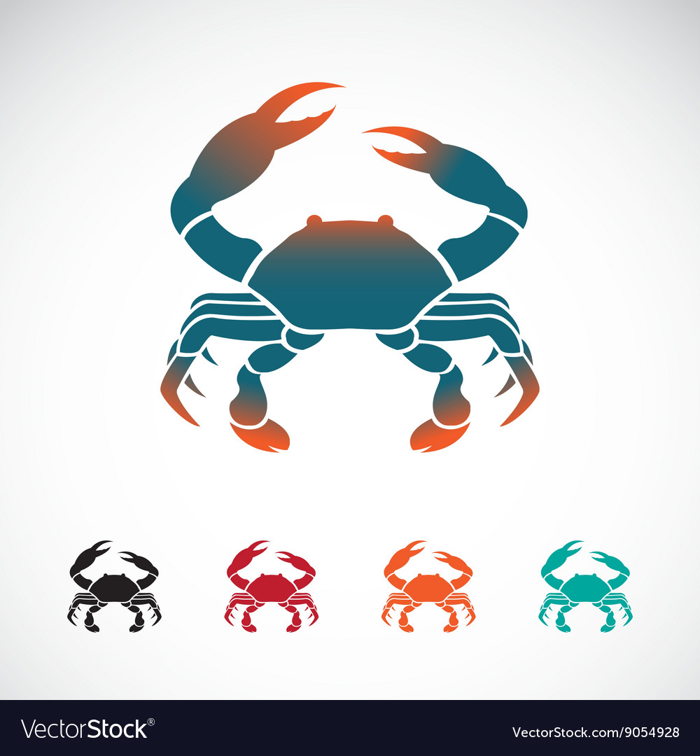 Set of crab icons design vector