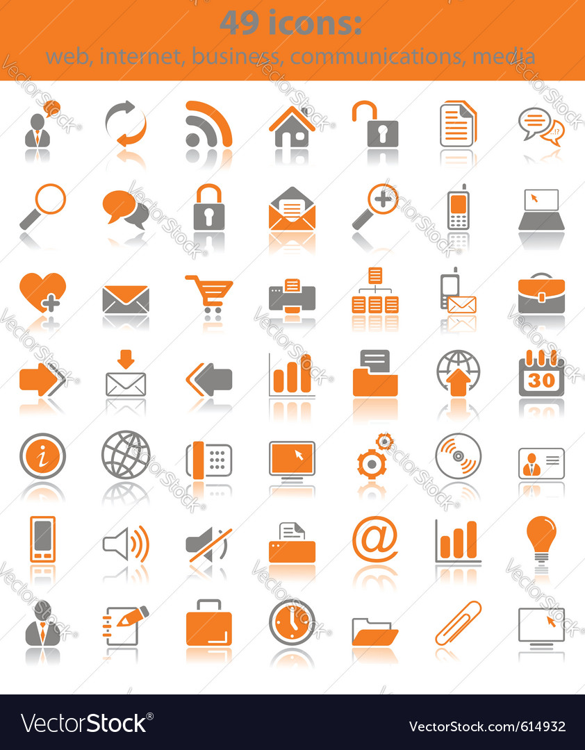 Web media icons vector