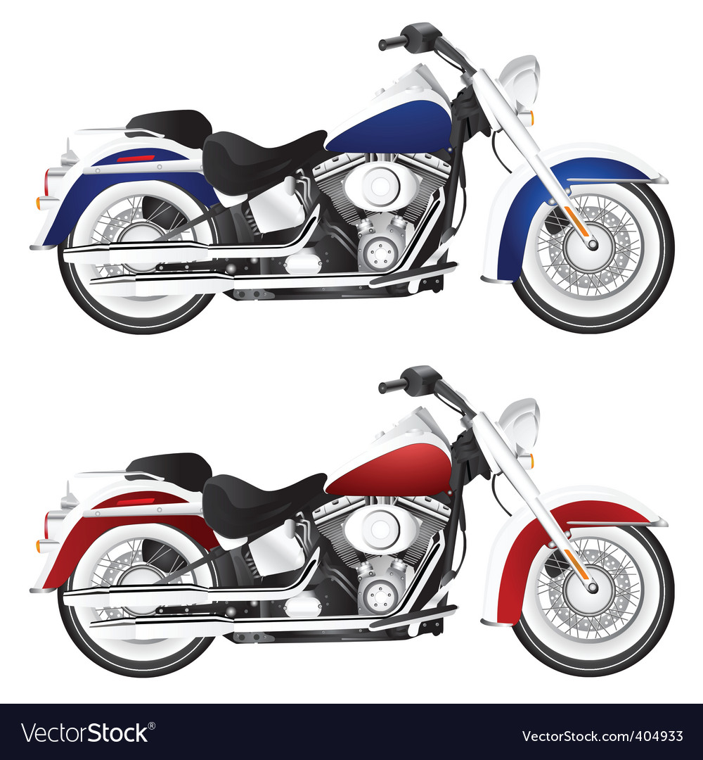 Motorcycle chopper detail vector