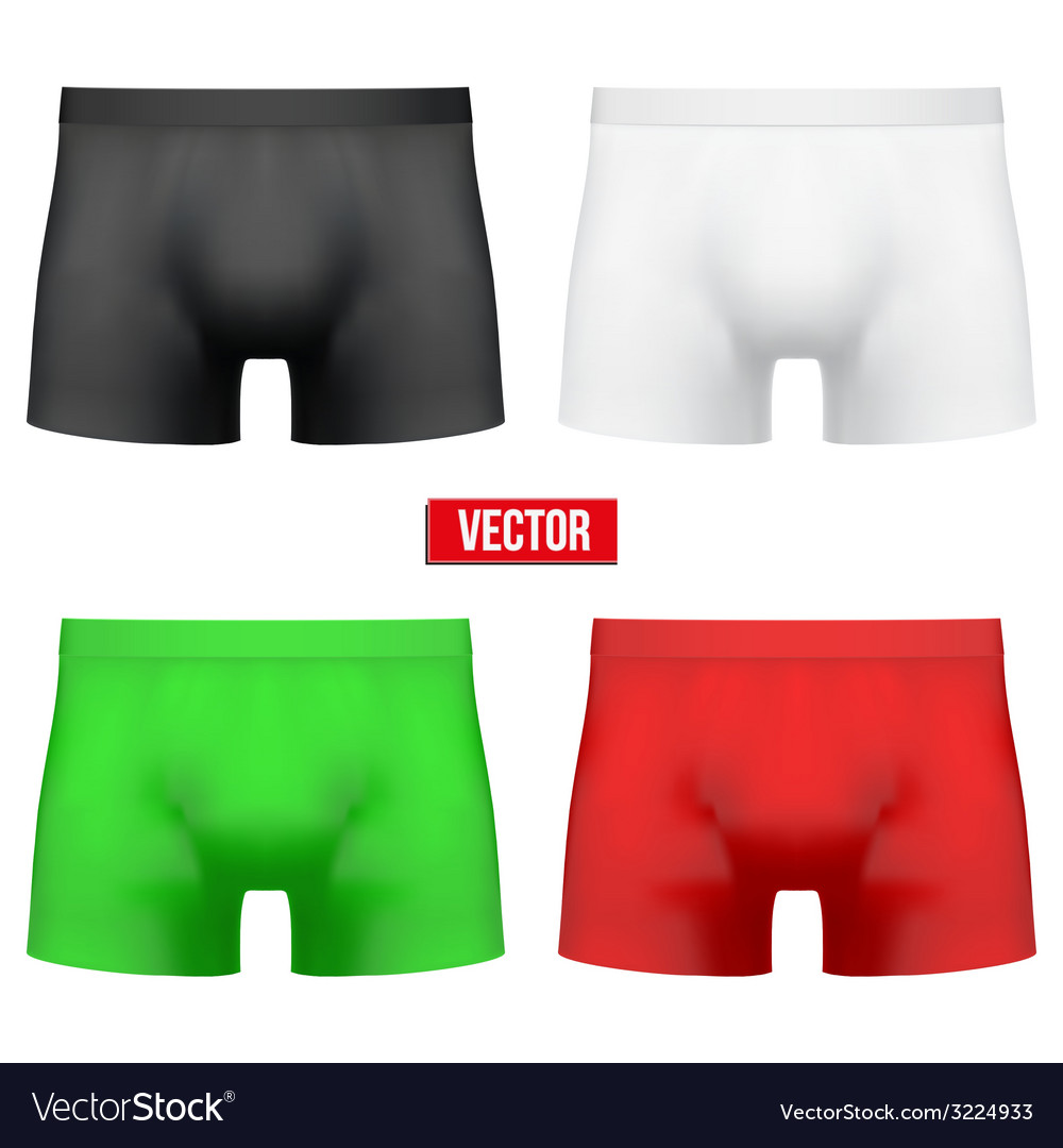 Set male of different colors underpants briefs vector