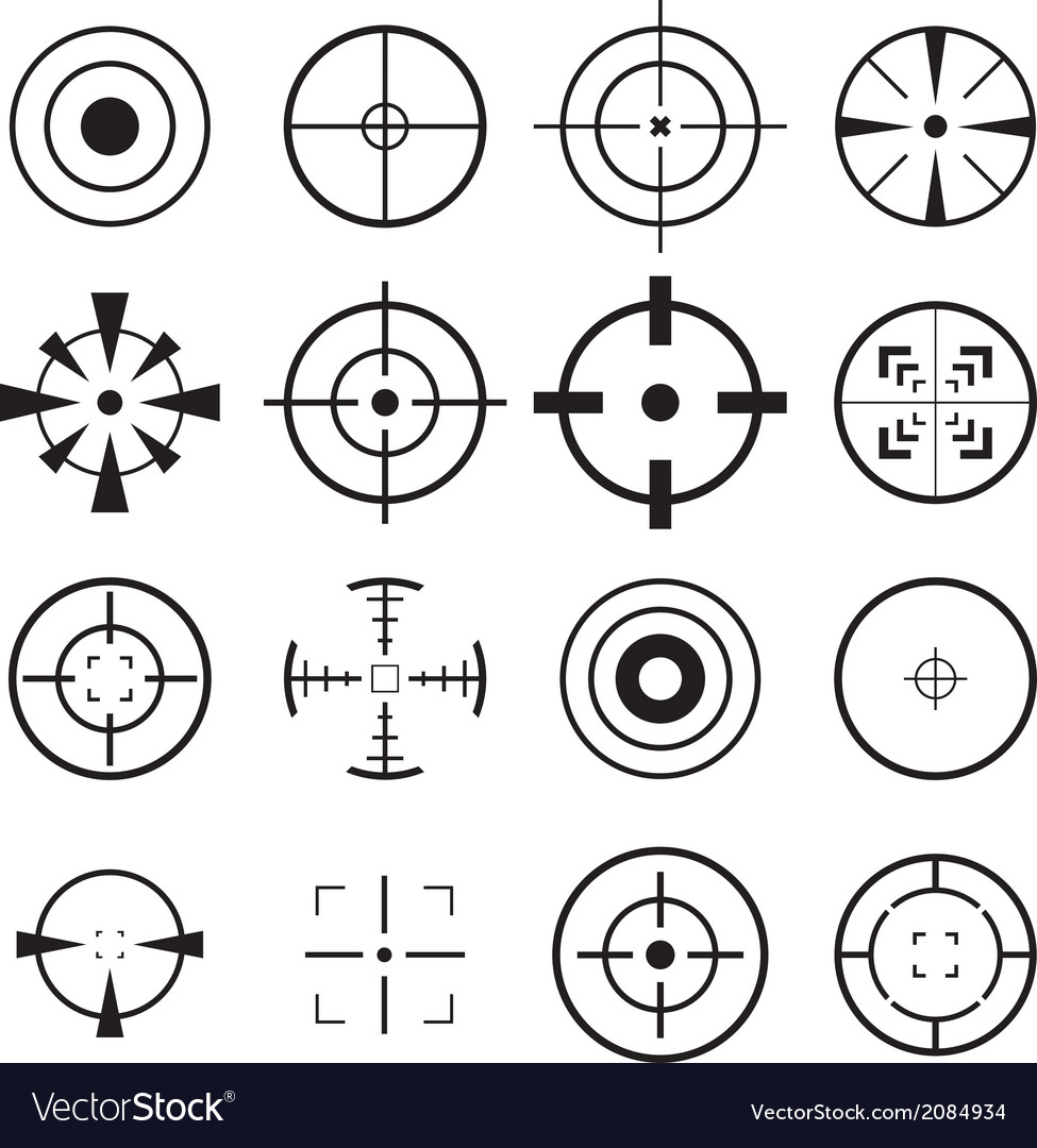 Crosshair icon vector