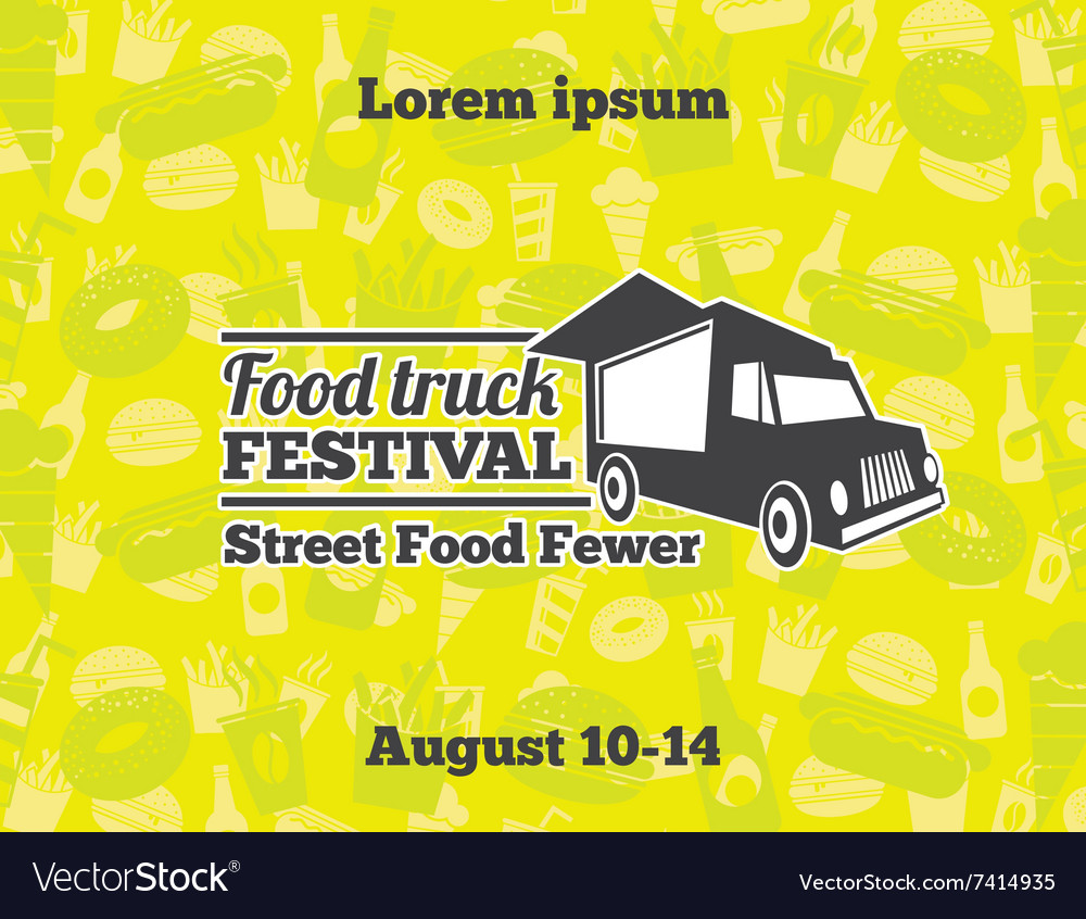 Urban street food for poster vector