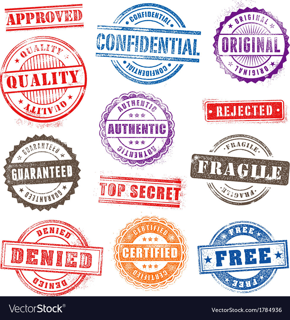 Grunge commercial stamps set2 vector