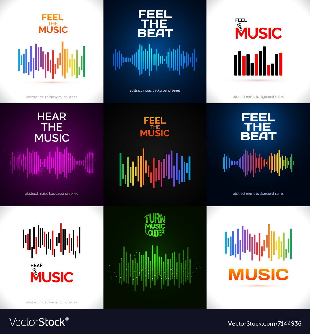 Set of different equalizer icons vector