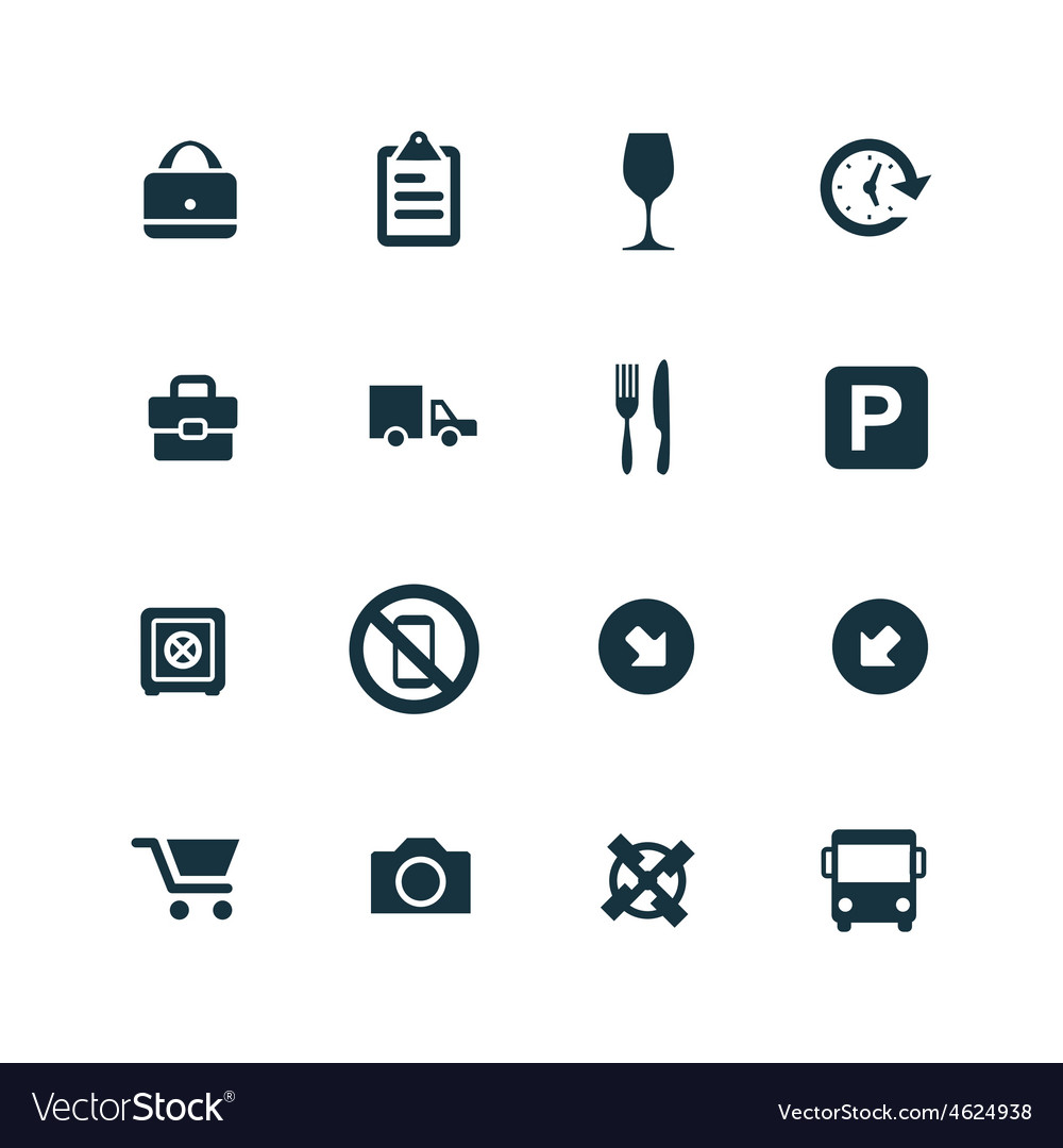 Set of airport icons vector