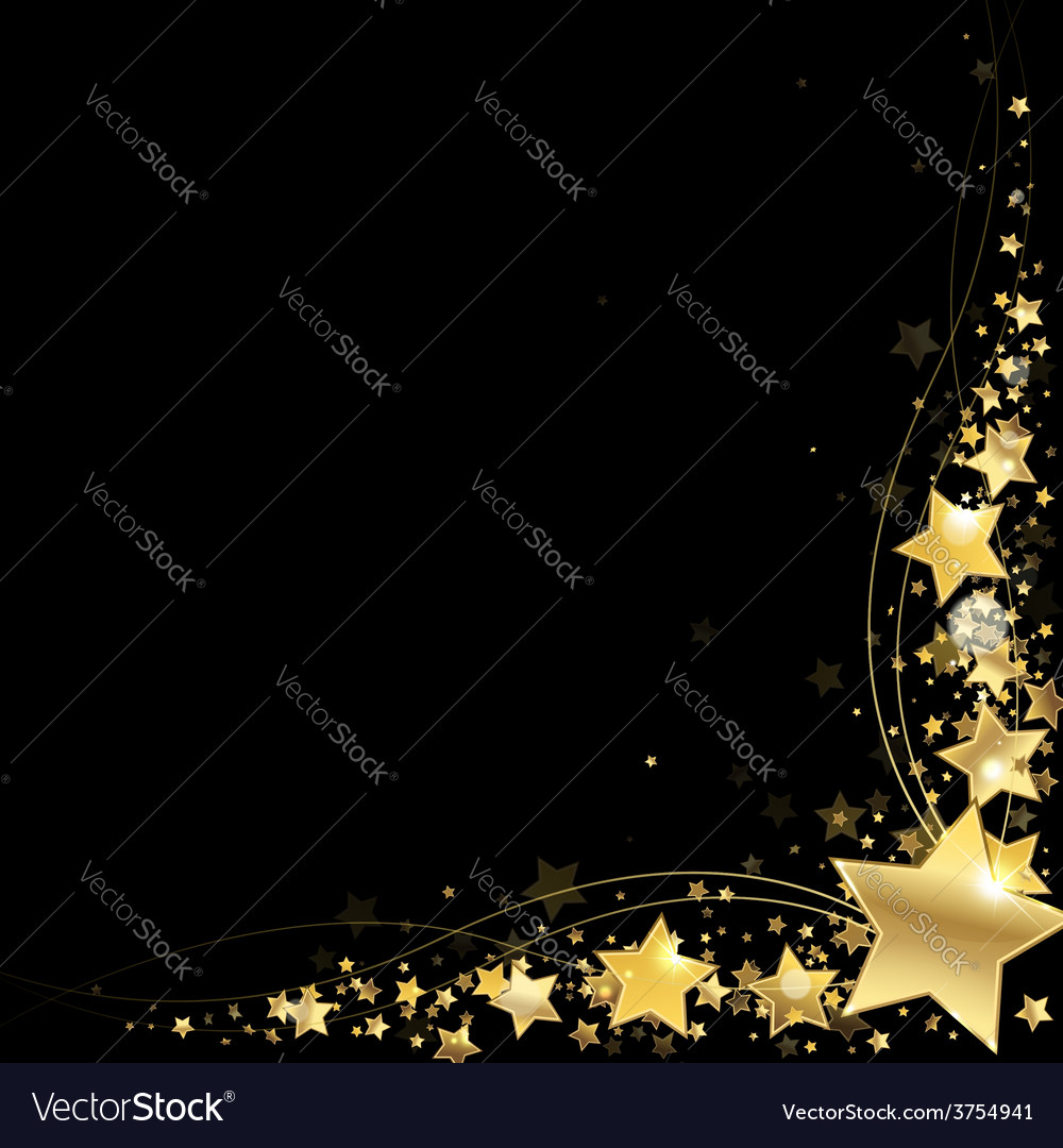 Frame of gold stars vector