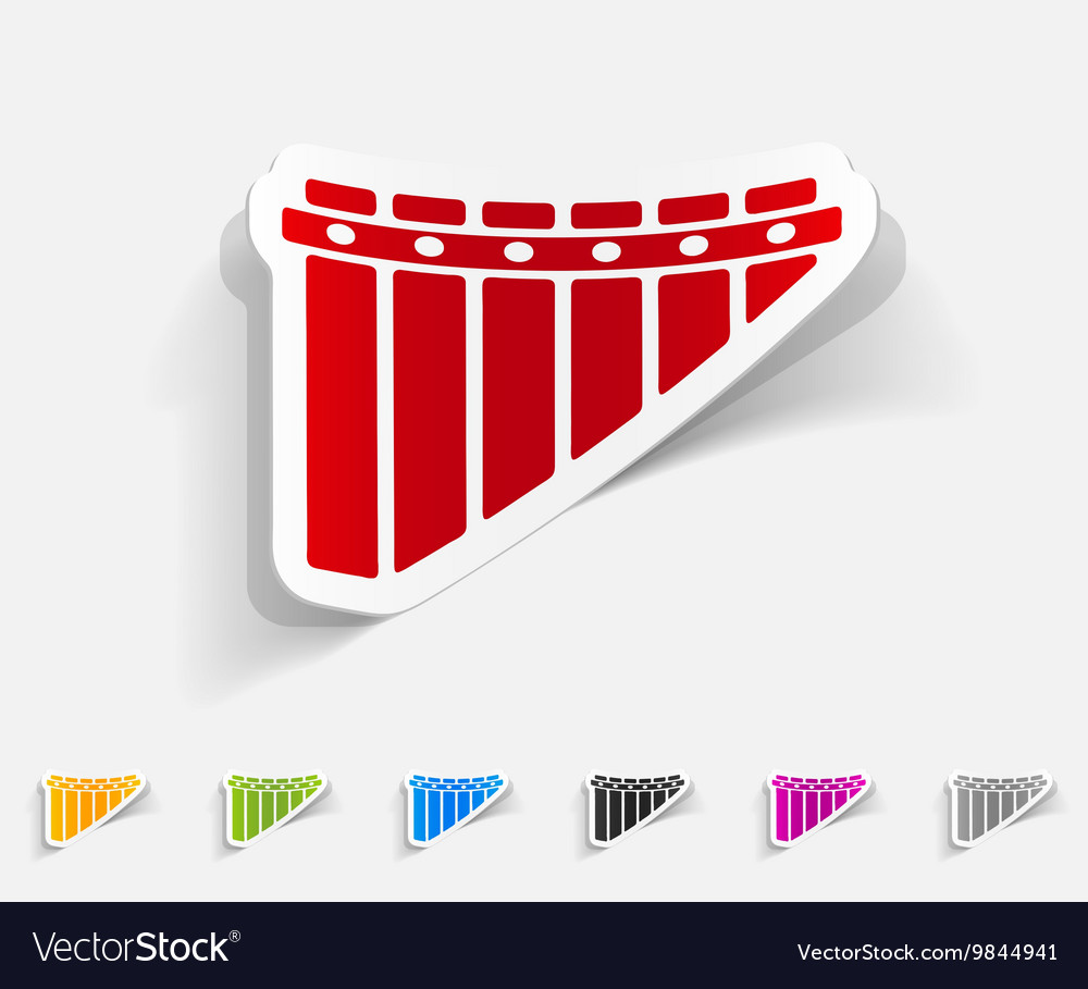 Realistic design element panpipes vector