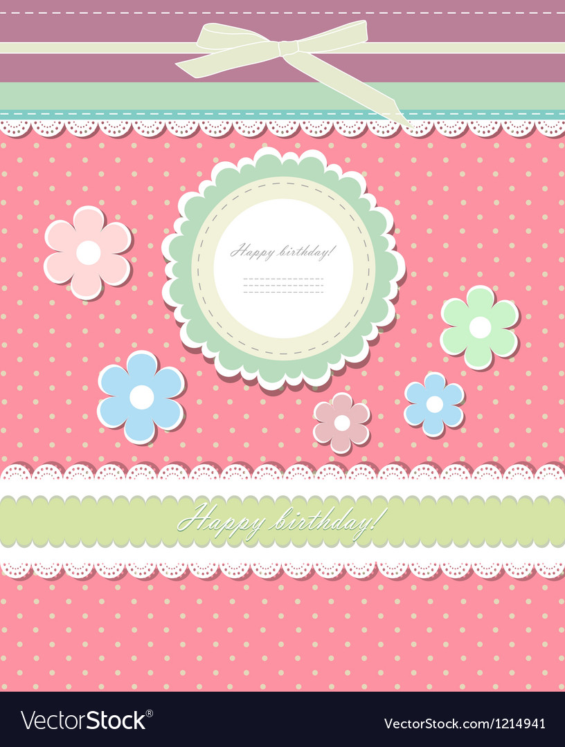 Vintage background for invitation card vector