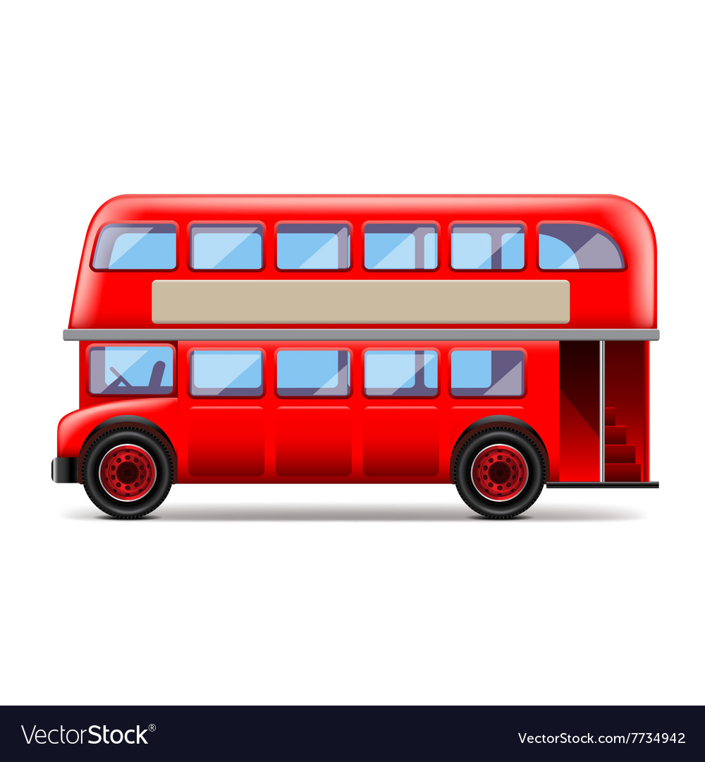 London bus isolated on white vector