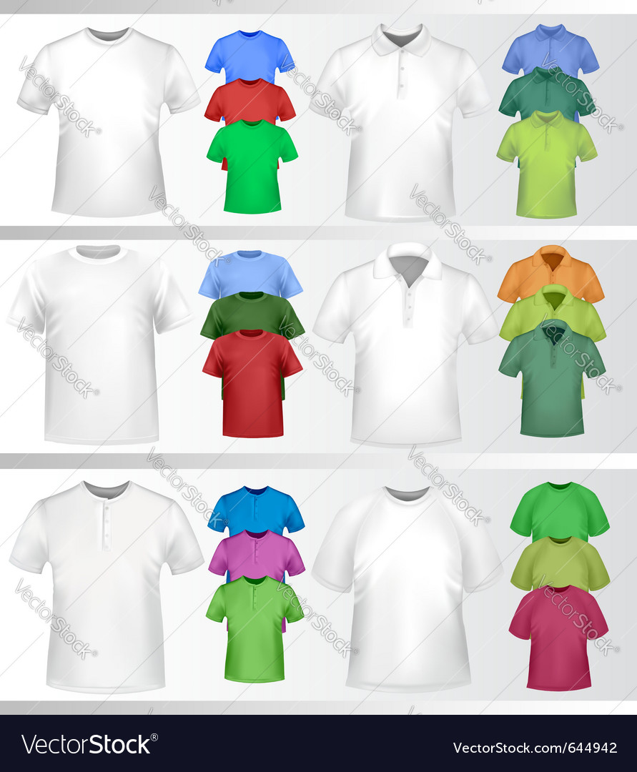 Polo shirts and tshirts vector