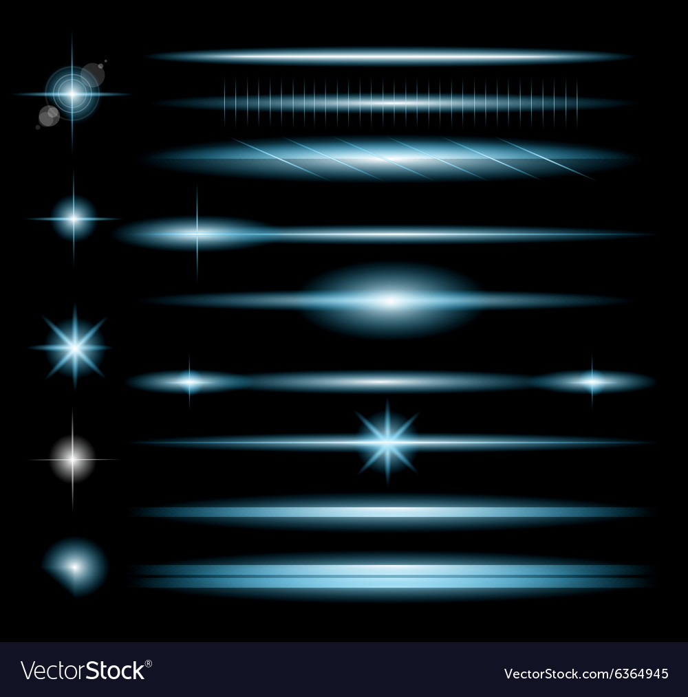 Sparkle collection with a lot of different shapes vector