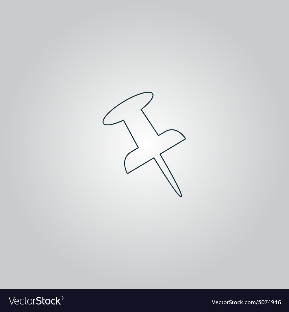 Push pin isolated icon vector
