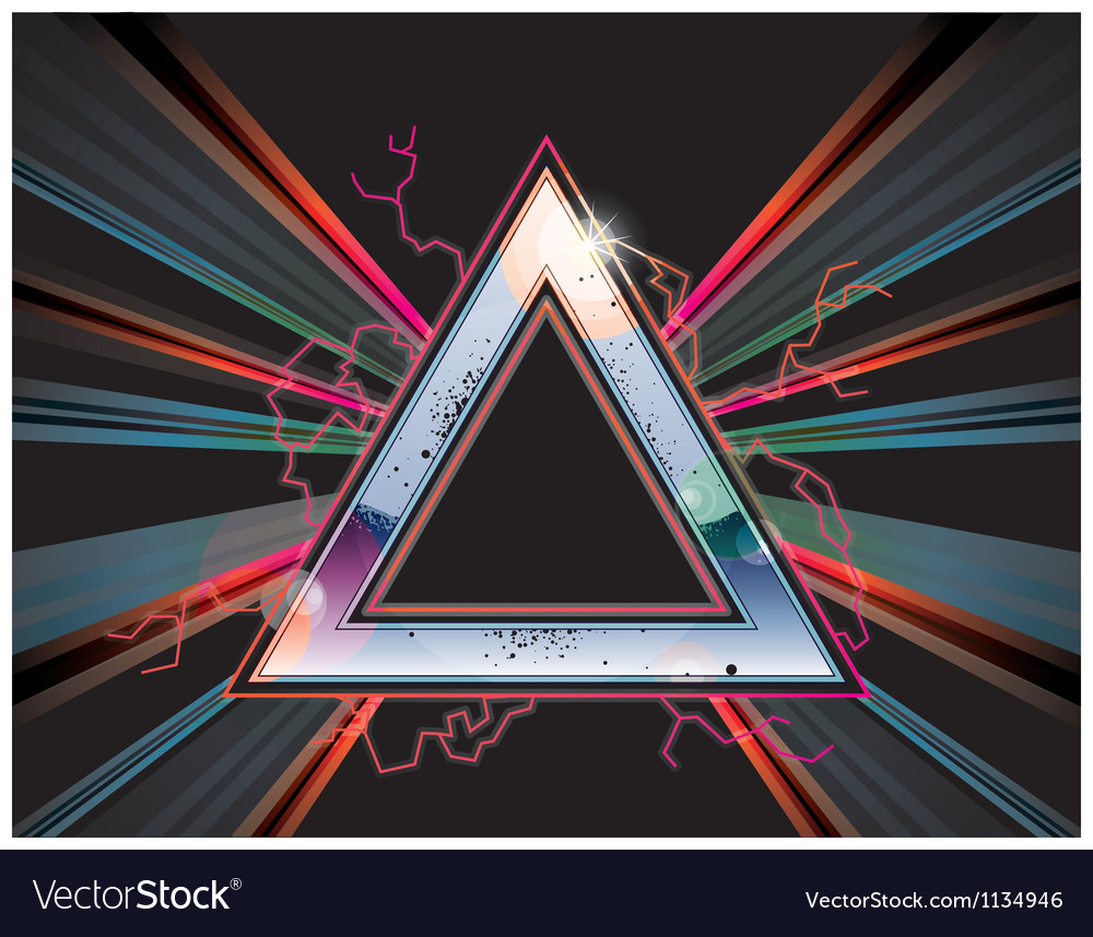 Rock triangle vector