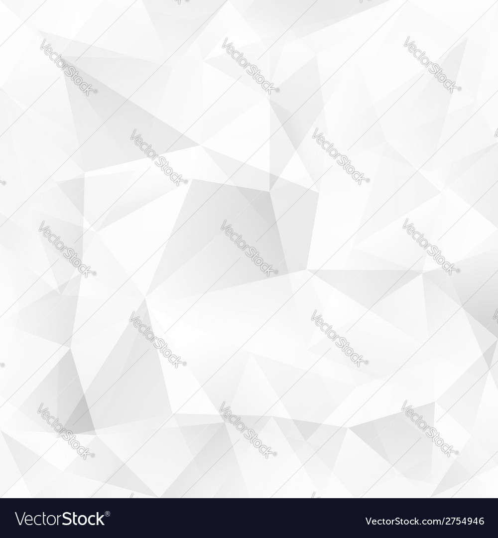 White crystal triangles abstract background vector