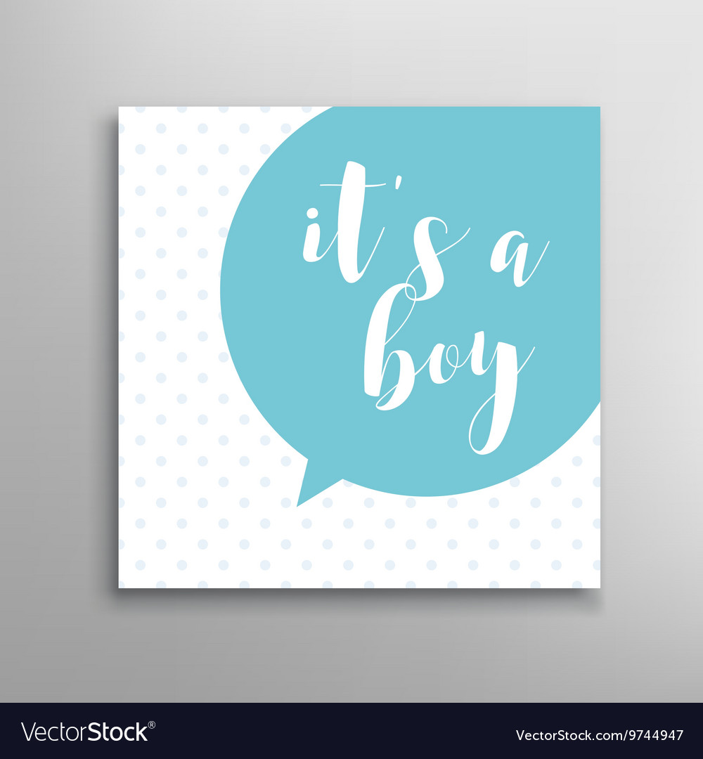 Its a boy lettering vector