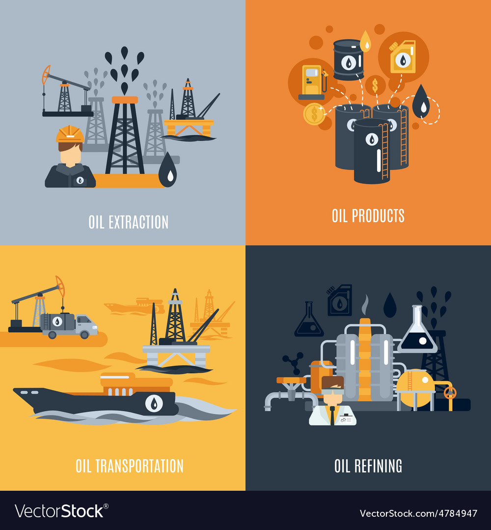 Oil industry flat icon vector