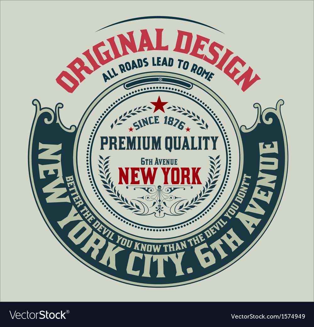 Premium quality label baroque ornaments and floral vector