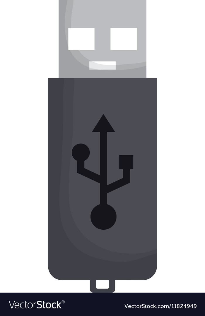 Usb storage technology vector