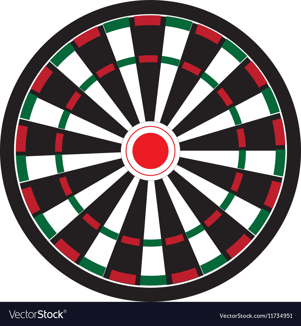 Dart board game vector
