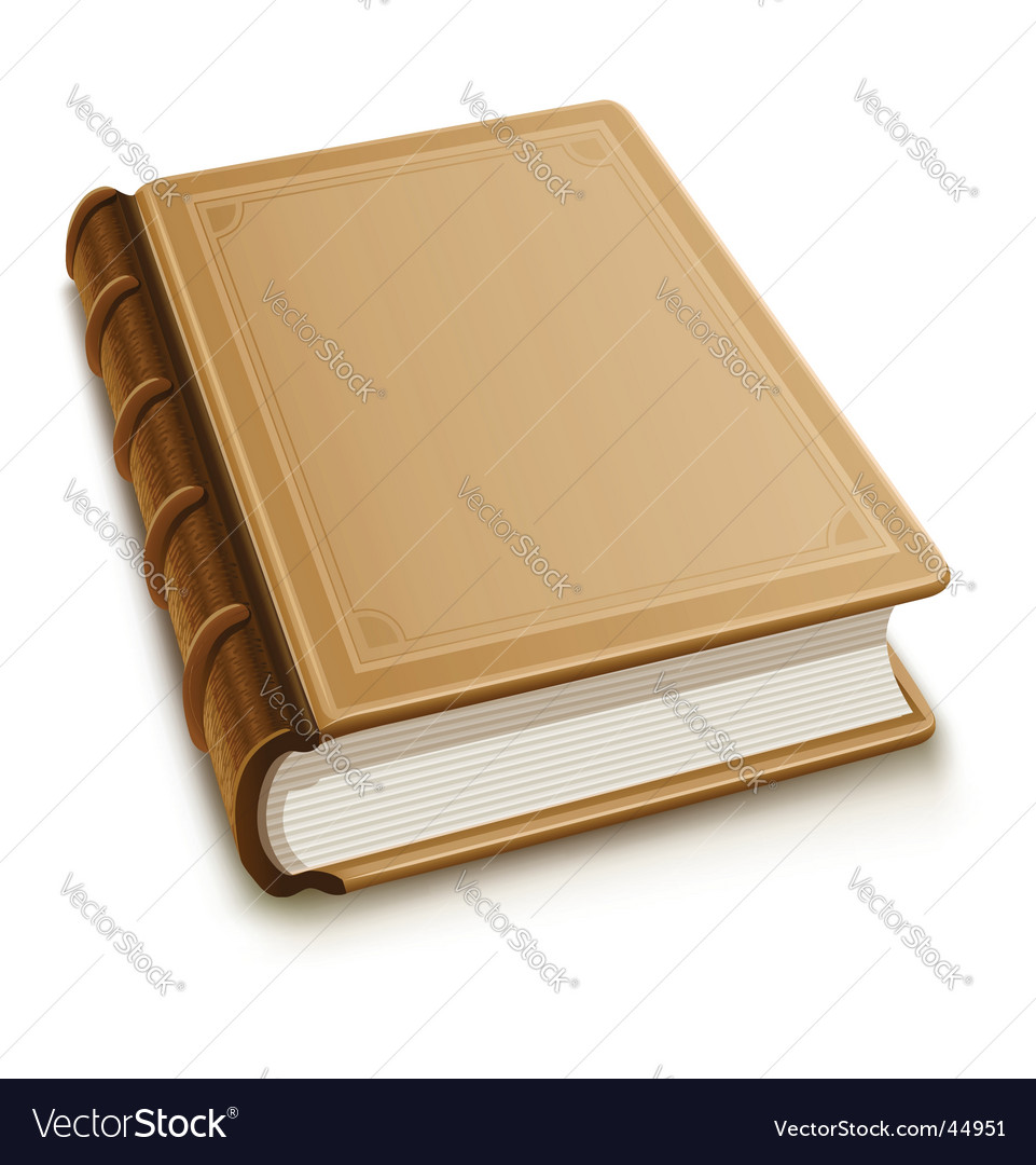 Old book with blank cover vector