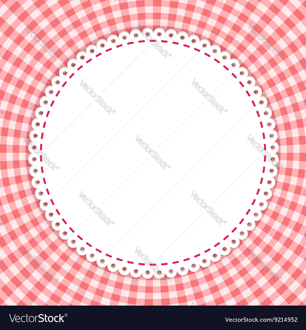 Classic tablecloth gingham background vector