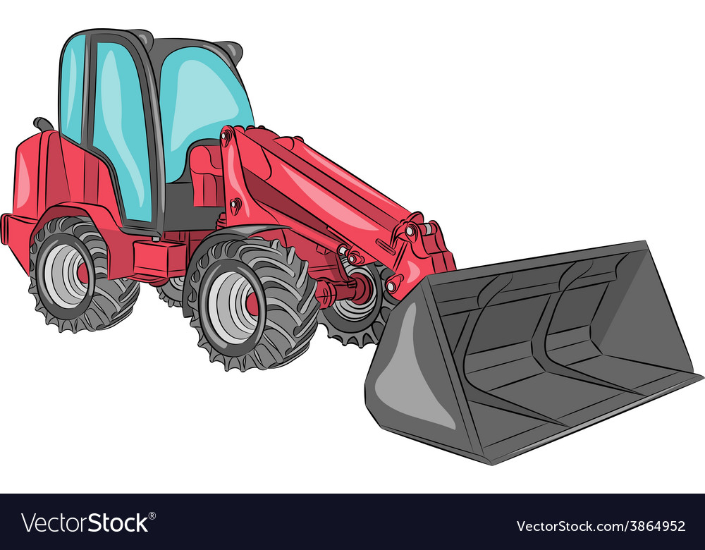 Mini bulldozer a vector