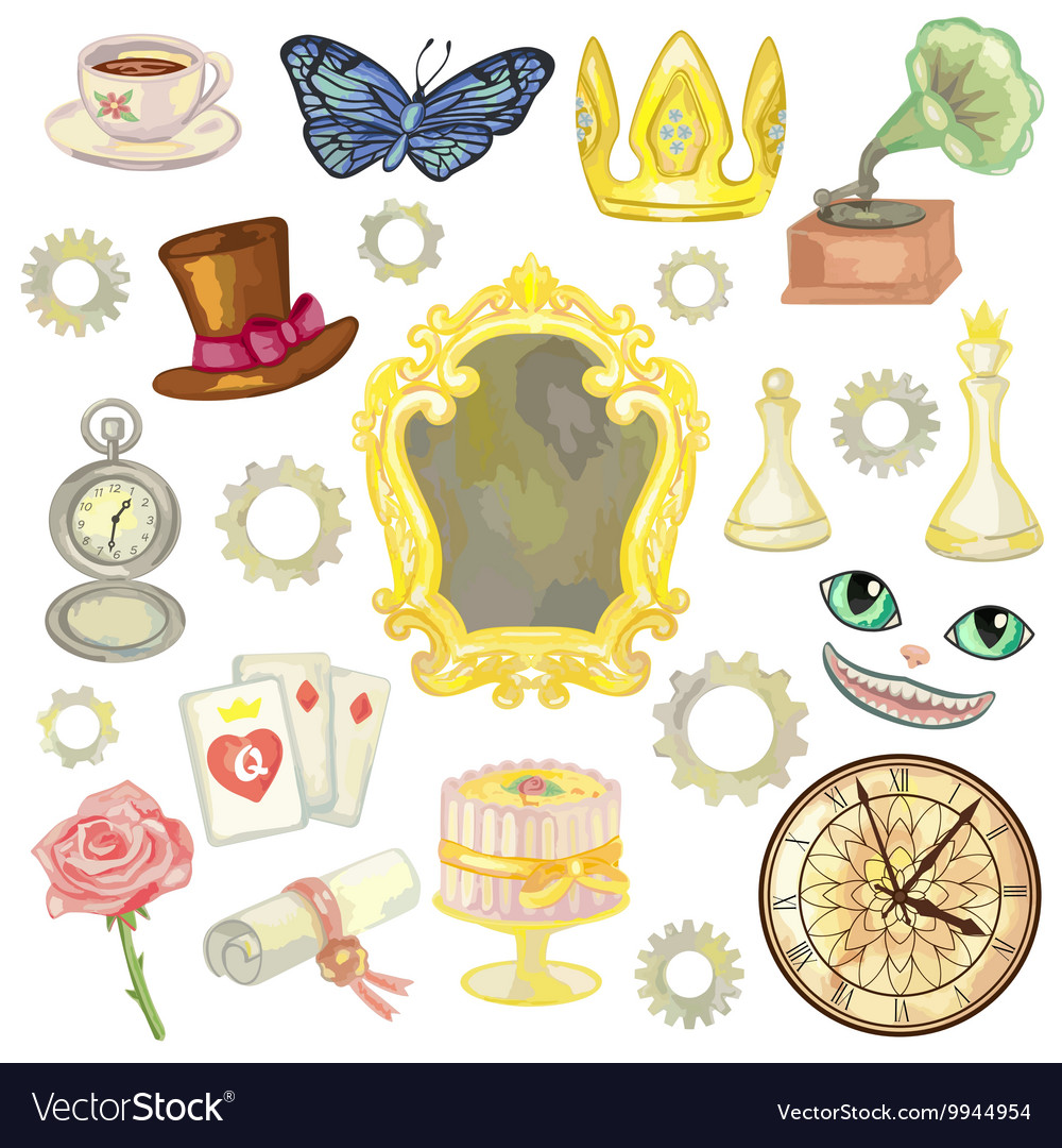 Fairy tale elements vector