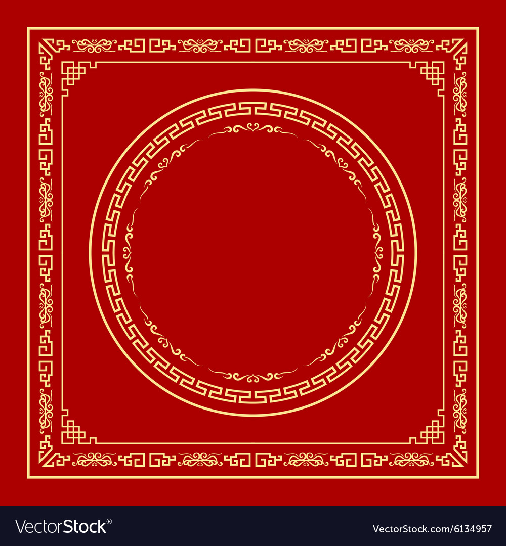 Chinese frame style vector