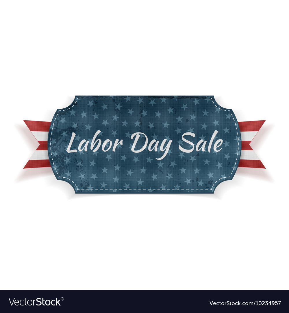 Labor day sale festive paper banner vector