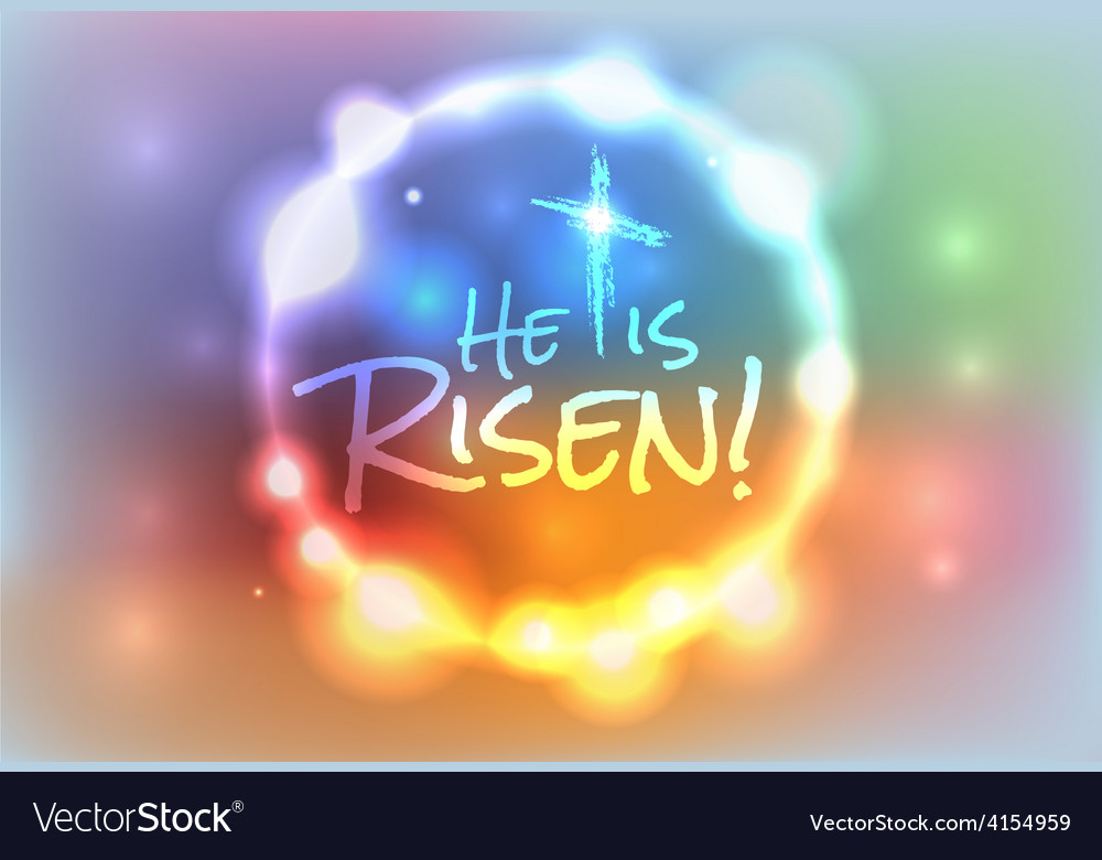 He is risen christian easter theme background vector