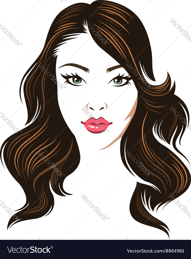 Girl hair brunette vector