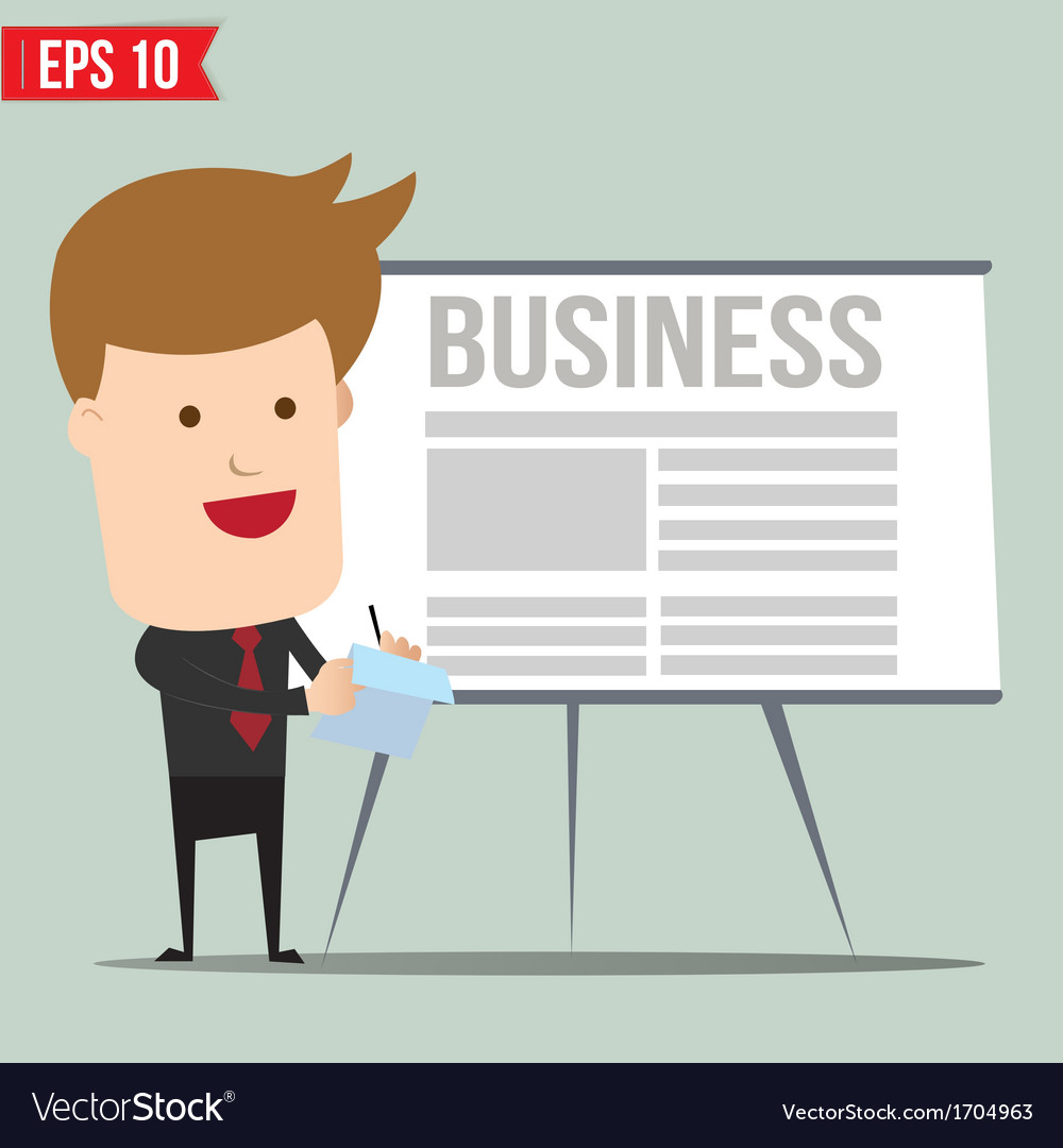 Business man writing a note   eps10 vector