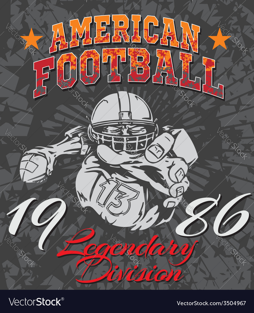 American football  for tshirt vector