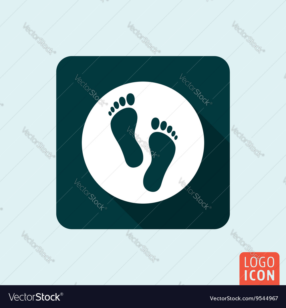 Feet icon isolated vector