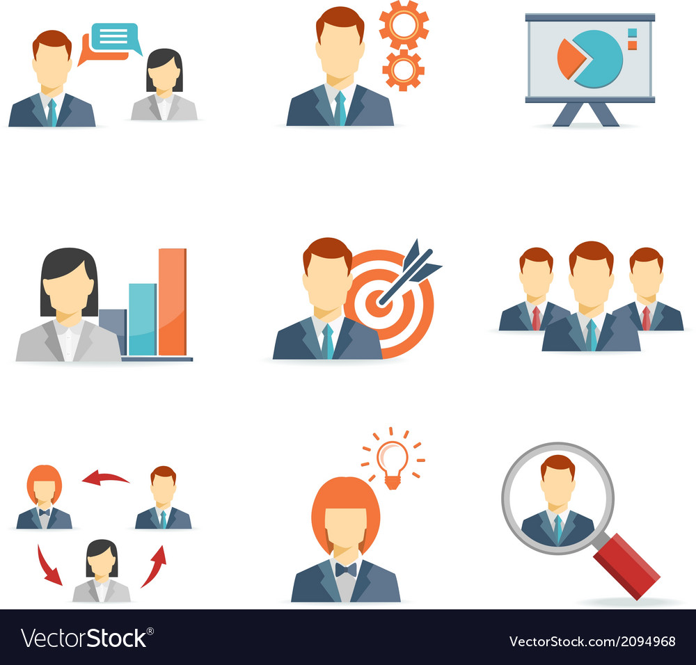 Business people for web and mobile app vector