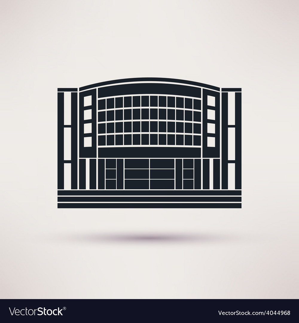 Mall building is an icon flat style vector