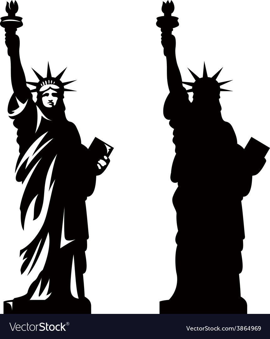 Statue of liberty vector