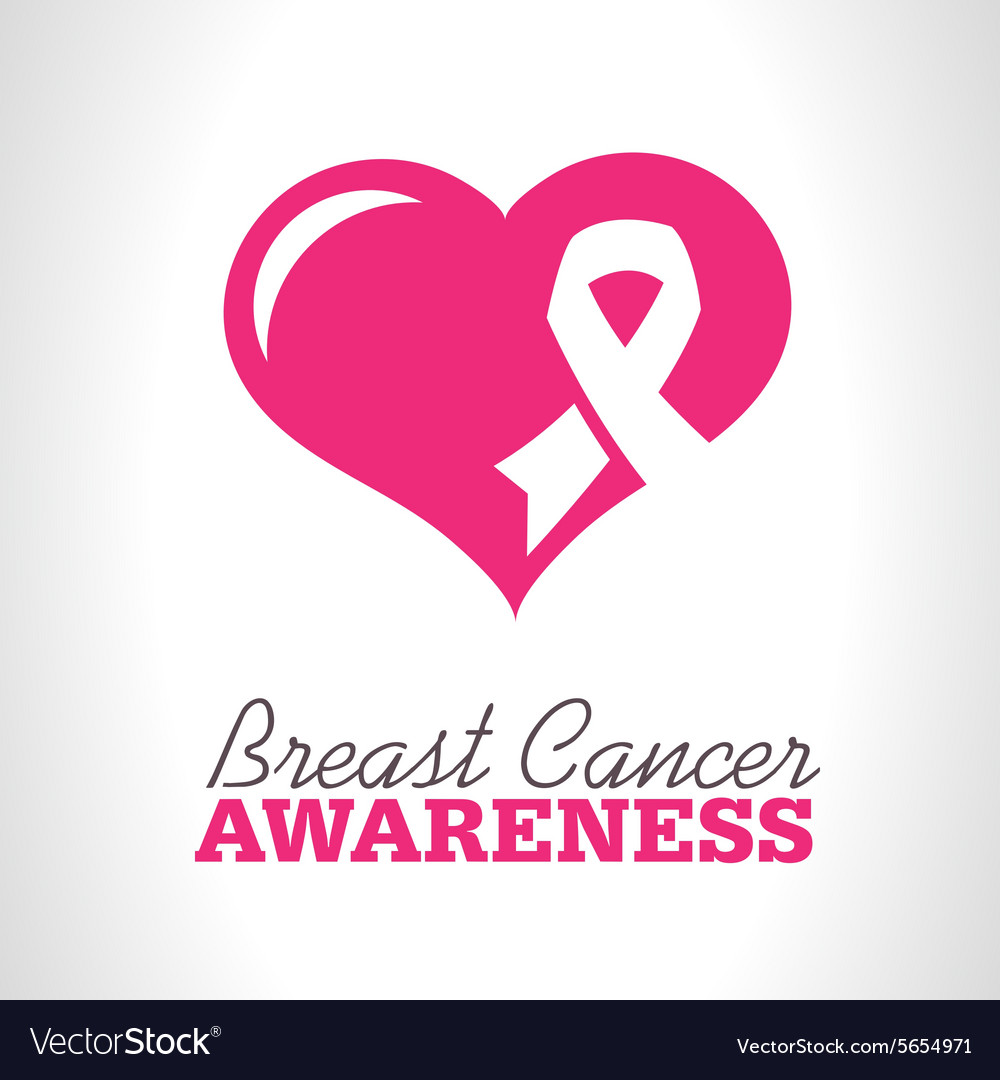 Pink breast cancer awareness icon vector