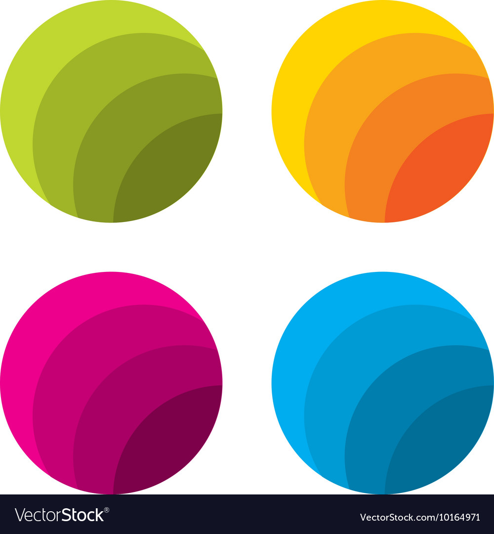 Set of abstract circle logo template vector