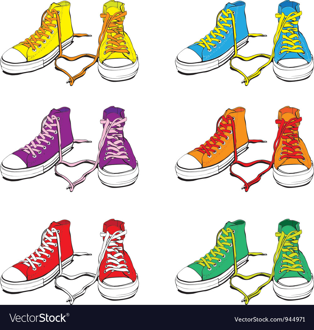 Sneakers set vector