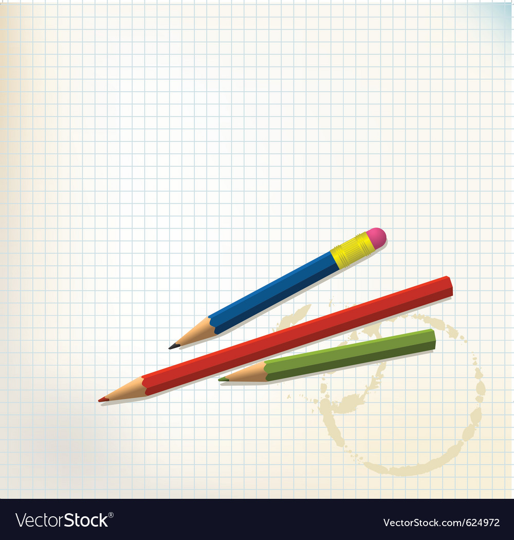 Paper and pencils vector